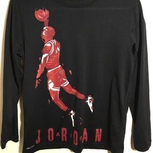 Jordan air long sleeve dry fit.